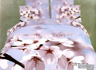Кпб сатин евро 4 наволочки (вишня в цвету) в интернет-магазине Моя постель