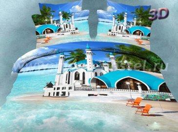 Постельное белье евро стандарта сатин 2 наволочки (отель на пляже) в интернет-магазине Моя постель