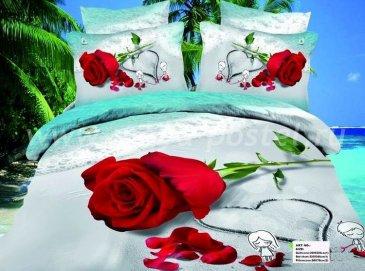 Кпб сатин Евро 2 наволочки (роза на песке) в интернет-магазине Моя постель