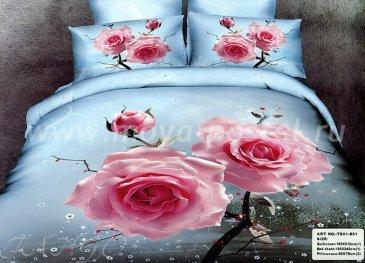 Кпб сатин евро 4 наволочки (магические розы) в интернет-магазине Моя постель