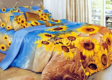 Кпб сатин евро 4 наволочки (поле подсолнухов) в интернет-магазине Моя постель
