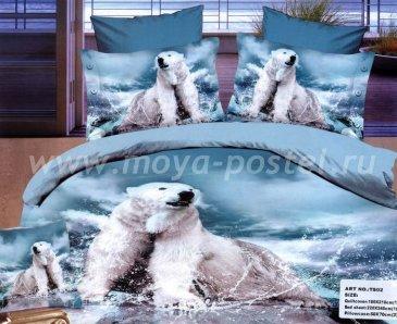 Кпб сатин евро 4 наволочки (белый медведь) в интернет-магазине Моя постель