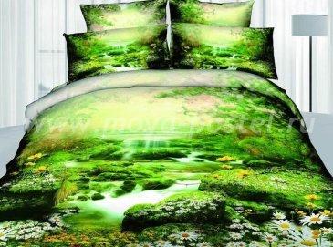 Кпб сатин Евро 2 наволочки (лесной ручей) в интернет-магазине Моя постель
