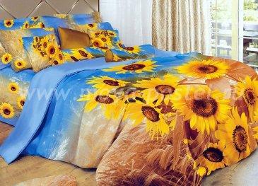 Кпб сатин Евро 2 наволочки (поле подсолнухов) в интернет-магазине Моя постель