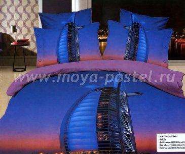 Кпб сатин Евро 2 наволочки (ночной Дубай) в интернет-магазине Моя постель