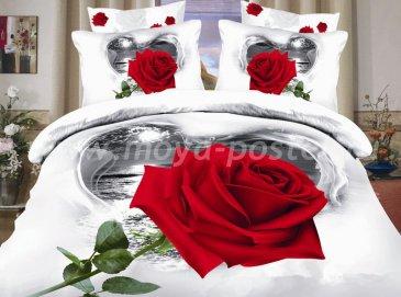 Кпб сатин 1,5 спальный (роза на фоне ночного моря) в интернет-магазине Моя постель