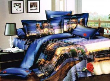 Кпб сатин Семейный 2 наволочки (город на рассвете) в интернет-магазине Моя постель