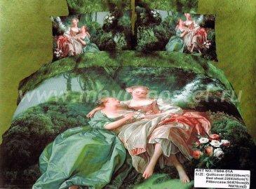 Кпб сатин 2 спальный (классическая живопись) в интернет-магазине Моя постель