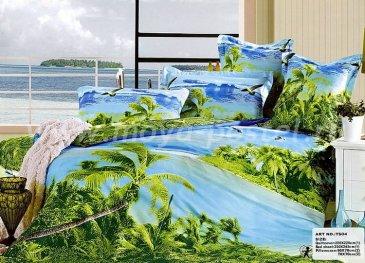 Кпб сатин Евро 2 наволочки (тропические острова) в интернет-магазине Моя постель