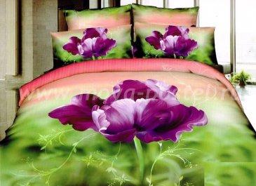 Кпб сатин евро 4 наволочки (фиолетовый тюльпан) в интернет-магазине Моя постель