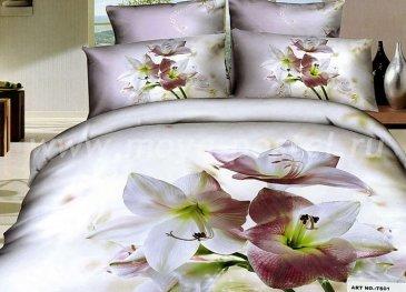 Кпб сатин Евро 2 наволочки (белые лилии) в интернет-магазине Моя постель