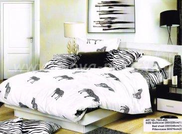 Кпб сатин Семейный 2 наволочки (зебры) в интернет-магазине Моя постель