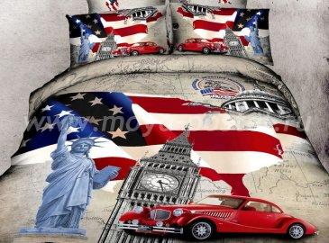 Семейное постельное белье сатин 2 наволочки (Британия и США) в интернет-магазине Моя постель