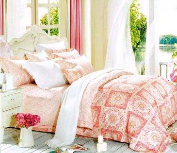 Кпб сатин Евро 2 наволочки (розовый орнамент) в интернет-магазине Моя постель