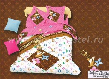 Saten Brands Euro (Луи Вуттон разноцветное) в интернет-магазине Моя постель