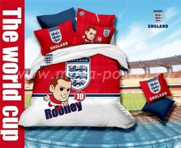 Кпб сатин 1,5 спальный Уэйн Руни (Англия) в интернет-магазине Моя постель