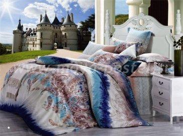 Кпб сатин 1,5 спальный 50*70 (турецкий огурец синий) в интернет-магазине Моя постель