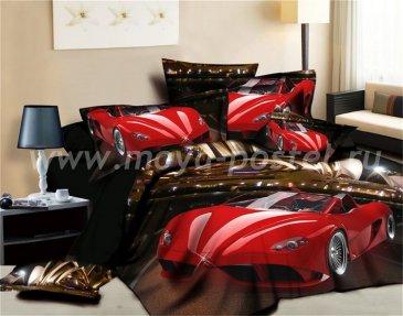 Кпб сатин Евро 2 наволочки (красный автомобиль в Сиднее) в интернет-магазине Моя постель