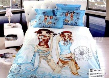 Кпб сатин Евро 2 наволочки (модницы) в интернет-магазине Моя постель