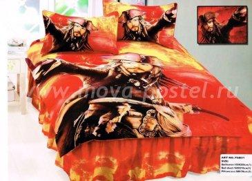 Детское постельное белье 1,5 спальное (Джек Воробей) в интернет-магазине Моя постель