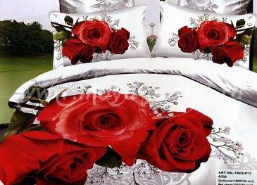 Кпб сатин евро 4 наволочки (три розы) в интернет-магазине Моя постель