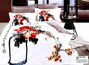 Кпб сатин евро 4 наволочки (китайская живопись) в интернет-магазине Моя постель