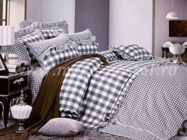 """Полуторное постельное белье """"Прованс"""" (черно-белая клетка) в интернет-магазине Моя постель"""