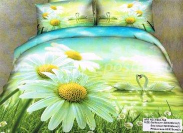 Кпб сатин Семейный 2 наволочки (ромашки у озера) в интернет-магазине Моя постель