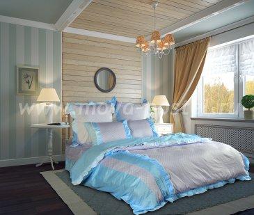 """КПБ Евро """"Прованс"""" (голубой) в интернет-магазине Моя постель"""