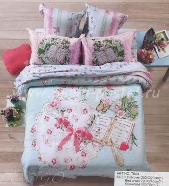 Кпб сатин 2 спальный 70*70 (дневник) в интернет-магазине Моя постель