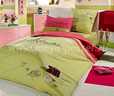КПБ с аппликацией ТМ Gorilla (в Париже) 2323-04, полуторное в интернет-магазине Моя постель