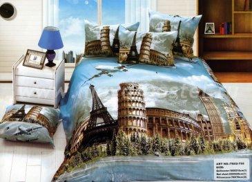 Кпб сатин 2 спальный TS02-755-70 (достопримечательности) в интернет-магазине Моя постель