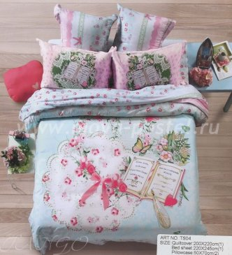 Кпб сатин 2 спальный 50*70 (дневник) в интернет-магазине Моя постель
