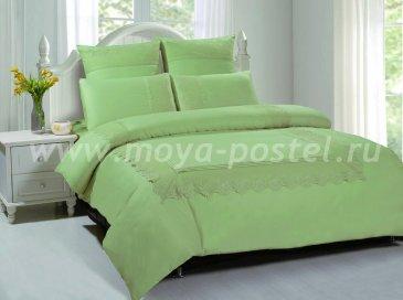 КПБ TANGO GIPUR Евро 4 нав., фисташковый однотонный в интернет-магазине Моя постель