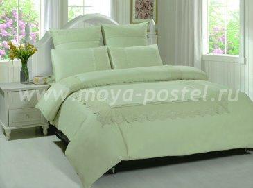 КПБ TANGO GIPUR Евро 4 нав., мятный однотонный в интернет-магазине Моя постель