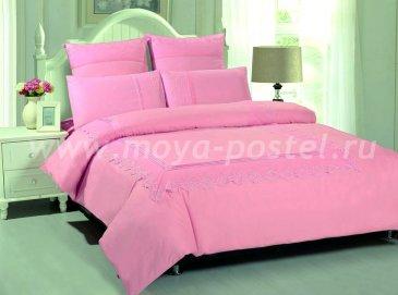 КПБ TANGO GIPUR Евро 4 нав., розовое однотонное в интернет-магазине Моя постель