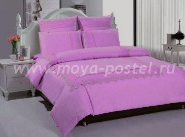 КПБ TANGO GIPUR Евро 4 нав., сиреневый однотонный в интернет-магазине Моя постель