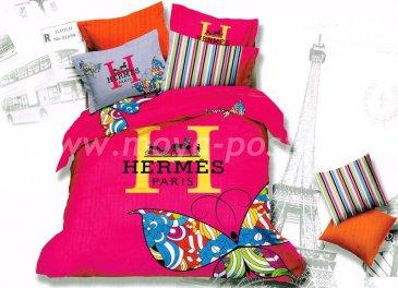 Saten Brands дуэт семейный BB05-11 (Hermes Paris розовый) в интернет-магазине Моя постель