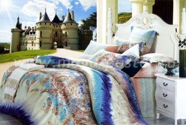 Кпб сатин 1,5 спальный 70*70 (турецкий огурец синий) в интернет-магазине Моя постель