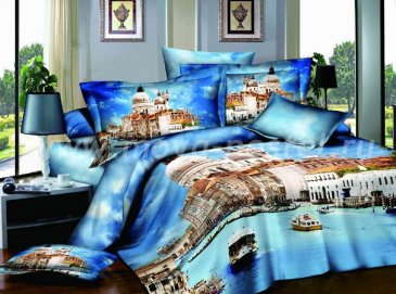 Кпб сатин Евро 2 наволочки (город на востоке) в интернет-магазине Моя постель