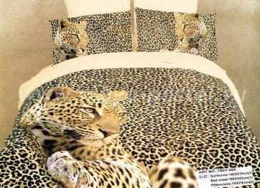 Постельное белье евро стандарта сатин 2 наволочки (леопард) в интернет-магазине Моя постель
