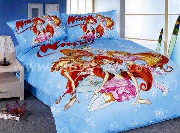 Кпб Детское 1,5 спальное (Winx club) в интернет-магазине Моя постель