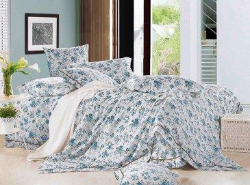 Twill евро 4 наволочки (в голубой цветочек) в интернет-магазине Моя постель