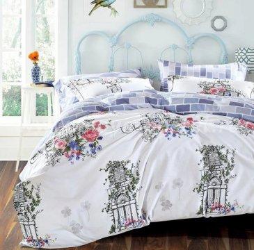 Кпб сатин Евро 2 наволочки (старый сад) в интернет-магазине Моя постель