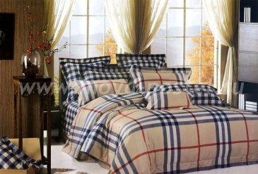 Семейное постельное белье 2 наволочки (серо-бежевая клетка) в интернет-магазине Моя постель