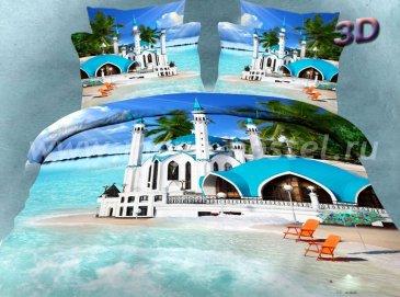 Двуспальное постельное белье сатин 50*70 (отель на пляже) в интернет-магазине Моя постель