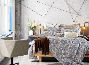Twill евро 4 наволочки (синий турецкий узор) в интернет-магазине Моя постель