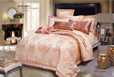 Постельное белье евро стандарта TJ111-497 жаккард 2 наволочки в интернет-магазине Моя постель
