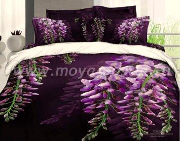 Постельное белье евро стандарта сатин 2 наволочки (фиолетовая акация) в интернет-магазине Моя постель