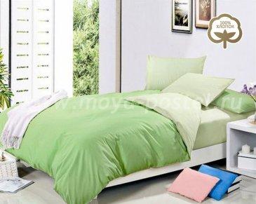 КПБ 1014-JT39 Сатин однотонный евро 2 наволочки в интернет-магазине Моя постель